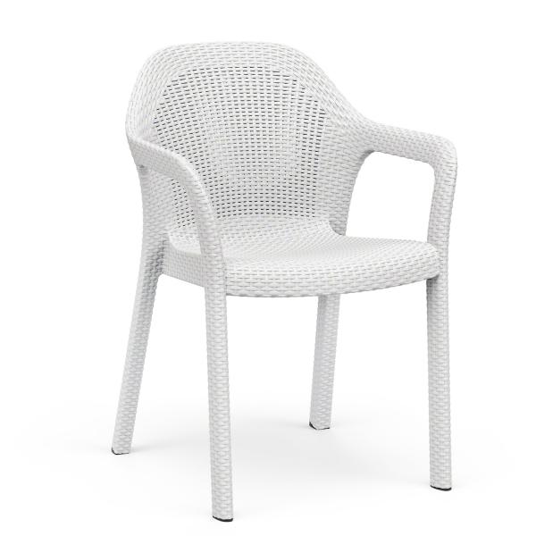 Krzesło Ogrodowe Lechuza Białe