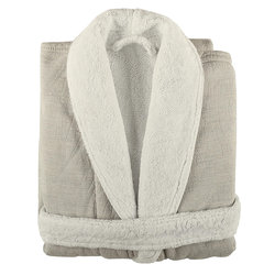 Szlafrok Graccioza® Linen Duo Natural S